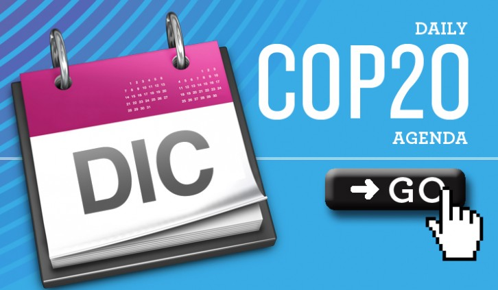 Check out the Daily COP20 Agendas