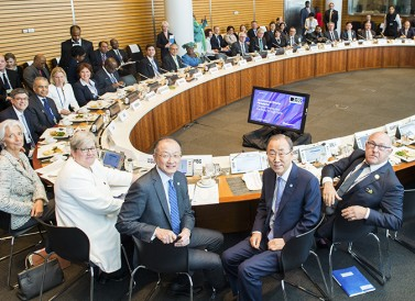 The leaders of the IMF, World Bank Group, and United Nations welcomed ministers from 42 countries for the climate ministerial.